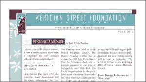 Meridian Street Foundation Newsletter
