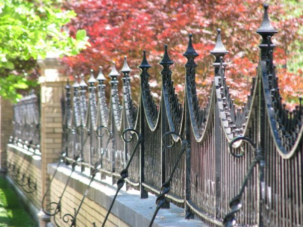 Fence on Meridian Street - Photo by Marg Herder