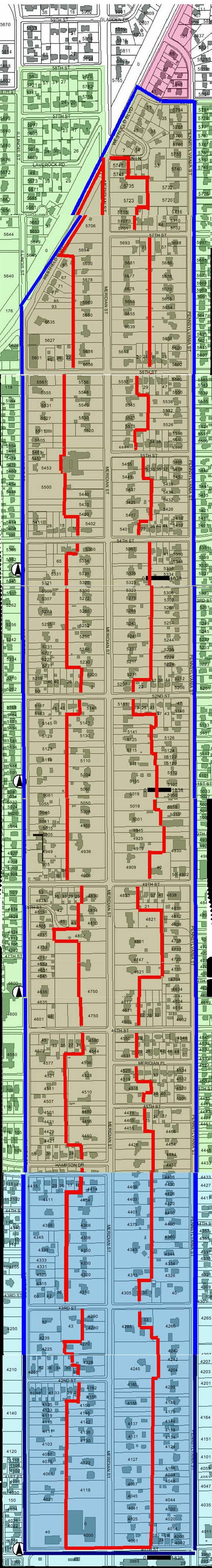 Meridian Street Foundation Area Map