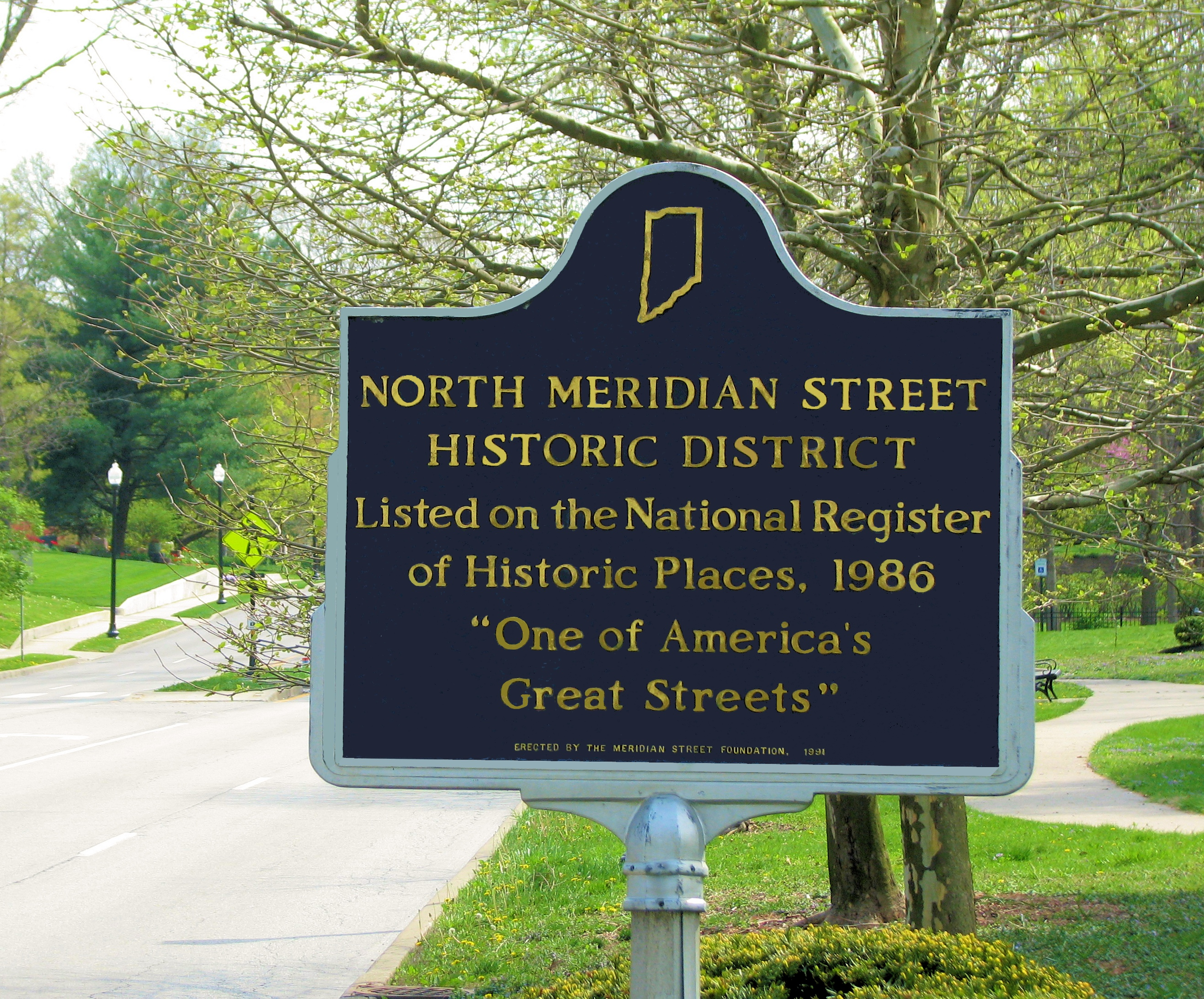 Meridian Street Historic District Sign - Photo by Marg Herder